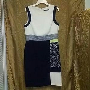 Dressy dress multi colors and patterns